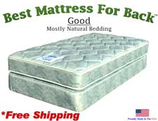 Twin XXL Good, Best Mattress For Back
